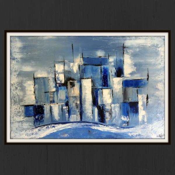 mimo-tseme artiste peintre sculpteur vague bleue