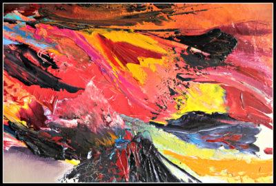 mimo-tseme artiste peintre sculpteur tableau rouge