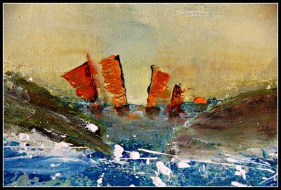 mimo-tseme artiste peintre sculpteur en mer