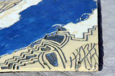 mimo-tseme sculpteur plaque gravée émaillée