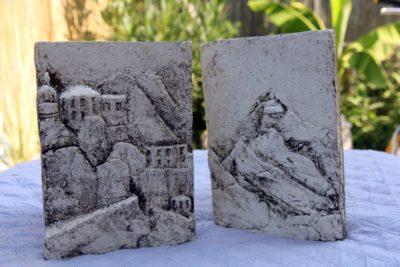 mimo-tsémé sculpteur livres grès émail thème orient