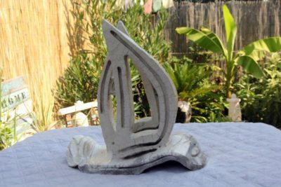 mimo-tseme sculpture bateau blanc raku