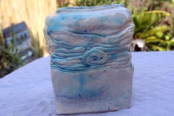 mimo-tseme sculpture vase grès émaillé