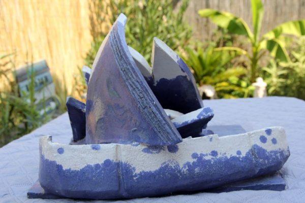 mimo-tsémé sculpture bateau échoué