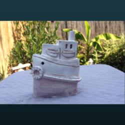 Sculpture SC115 – Le bateau blanc