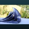 mimo-tseme sculpture bateau bleu
