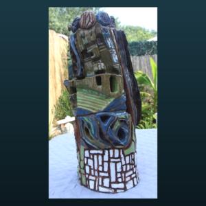 Sculpture SC108 – Tour village multicolore