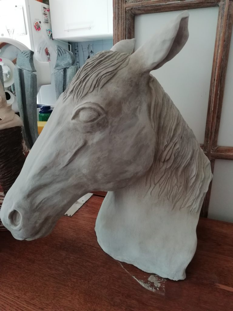 mimo tseme sculpture sur commande cheval